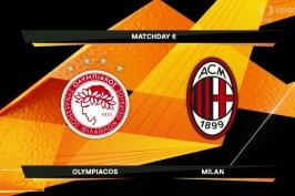 Sestřih utkání Olympiakos Pireus - AC Milán