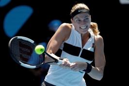 Kvitová přehrála Anisimovovou a za hodinu postoupila do čtvrtfinále, Berdych nestačil na Nadala
