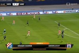 Sestřih utkání Dinamo Záhřeb – Anderlecht Brusel