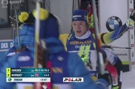 Štafeta biatlonistů patřila Švédům