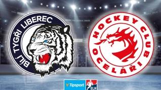Sestřih utkání Liberec - Třinec