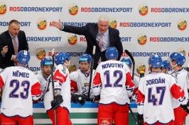 Někteří hráči nehráli, i proto zápas tak vypadal, řekl Říha po debaklu od Rusů