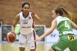 Basketbalistky Nymburku prohrály, ale play-off si přesto zahrají