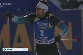 Sestřih stíhacího závodu biatlonistů v Hochfilzenu