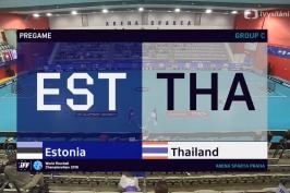 Sestřih utkání Estonsko – Thajsko