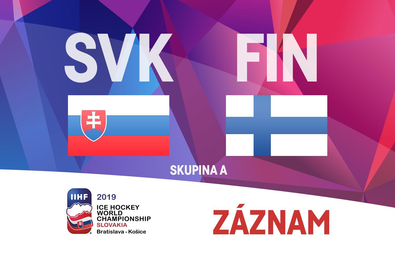 2e77c45926a87 Záznam utkání Slovensko – Finsko – ČT sport – Česká televize
