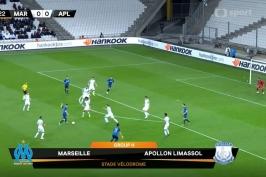 Sestřih utkání Olympique Marseille – Apollon