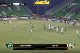 Sestřih utkání Ludogorec – Curych